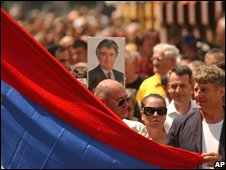 Bosnian Serbs rally in support of Radovan Karadzic in Banja Luka, 26/07/08