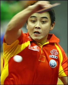 Wang Hao in action