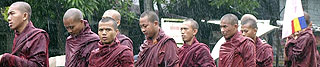 Monks protesting