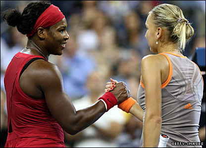 Serena Williams and Elena Vesnina