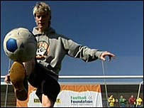 World freestyle football champion John Farnworth