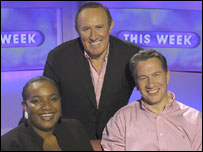Diane Abbott, Andrew Neil and Michael Portillo