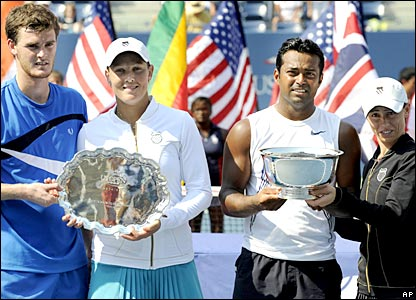 Jamie Murray and Liezel Huber alongside Leander Paes and Cara Black