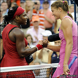 Serena Williams and Dinara Safina