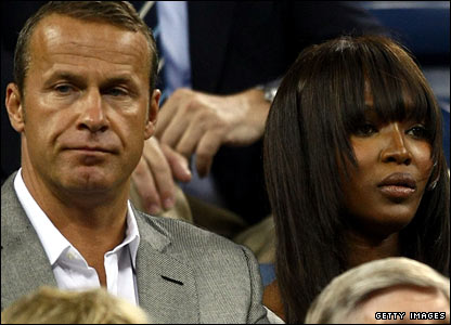 Model Naomi Campbell (right) and Russian billionaire boyfriend Vladislav Doronin