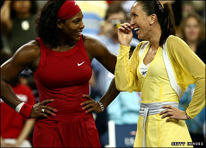 Serena Williams and Jelena Jankovic
