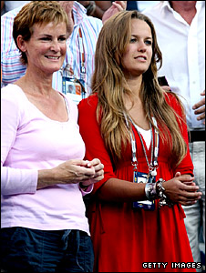 Judy Murray (left) and Kim Sears