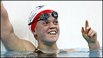 Ellie Simmonds won two golds in the pool
