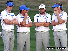 Justin Rose, Graeme McDowell, Sergio Garcia and Ian Poulter
