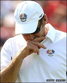 European skipper Nick Faldo