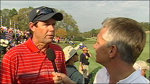 Paul Azinger talks to Gary Lineker