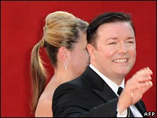 Ricky Gervais at the Emmys