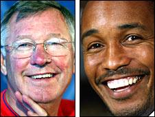 Sir Alex Ferguson and Paul Ince