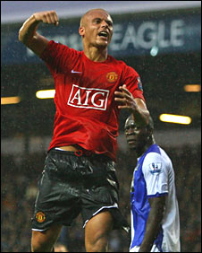 Wes Brown broke the deadlock for Man Utd