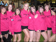 Scrum V's Behind the Scrum with Dragons cheerleaders The Dance Katz