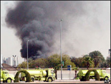 Aftermath of attack on US consulate in Jeddah, 6 December 2006