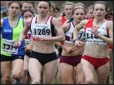 Sarah Waldron in race action