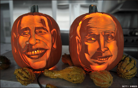 obama and mccain pumpkins