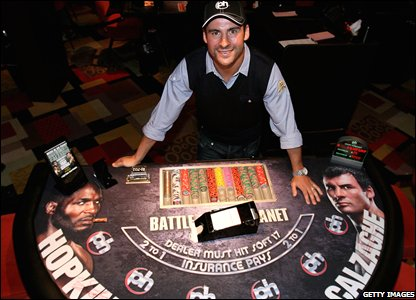 Calzaghe at the Planet Hollywood casino in Vegas