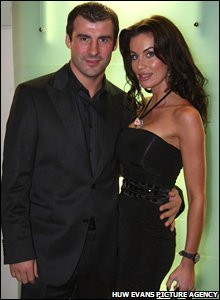 Joe Calzaghe and his girlfriend Jo-Emma Lavin