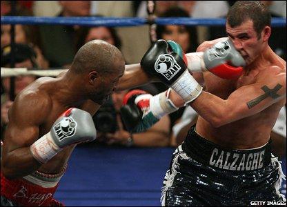 Bernard Hopkins hits Joe Calzaghe
