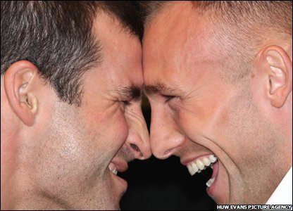 Joe Calzaghe and Mikkel Kessler square up in their pre-fight press conference