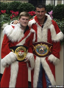 Joe Calzaghe and Ricky Hatton promote their joint top of the bill show