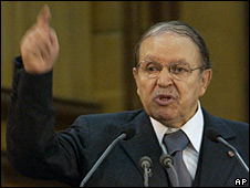 Abdelaziz Bouteflika in Algiers, 29 October 2008