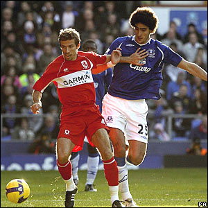 Gary O'Neil, Middlesbrough; Marouane Fellaini, Everton