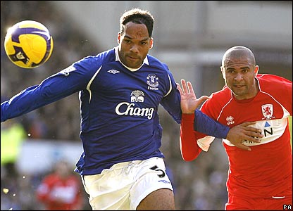 Joleon Lescott, Everton; Alfonso Alves, Middlesbrough