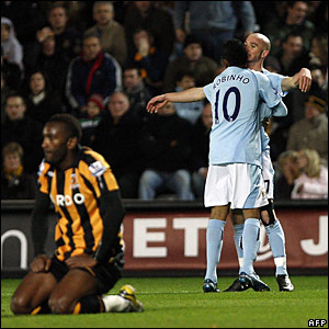 Kamil Zayatte, Hull City; Robinho and Stephen Ireland, Manchester City
