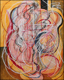 Nasser Azam's Homage to Francis Bacon: Triptych I