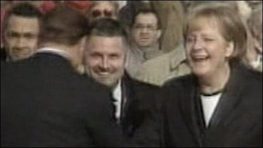 Angela Merkel and Silvio Berlusconi