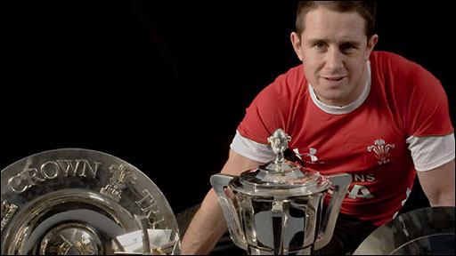 Wales wing and the International Rugby Board's Player of the Year Shane Williams
