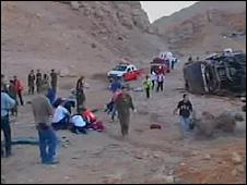 Scene of Israeli bus crash