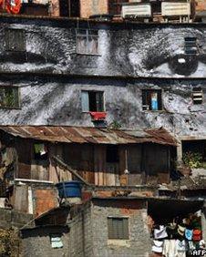 Favela facades (AFP)