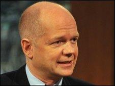 Shadow foreign secretary William Hague