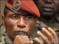 Military leader Captain Moussa Dadis Camara