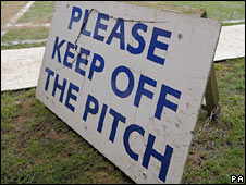 The pitch at Birmingham City