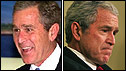 George W Bush in 2001 and 2009