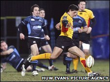 James Arlidge scored a try, two conversions and two penalties