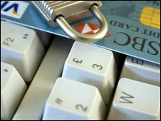 Card on keyboard