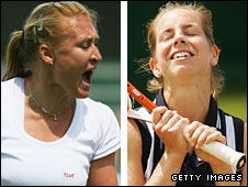 Elena Baltacha and Katie O'Brien