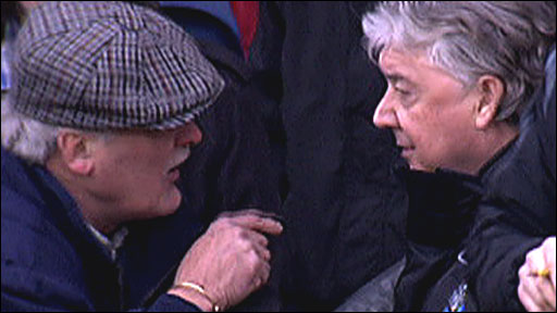 A fan chats to Joe Kinnear