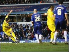 Joe Ledley scores for Cardiff