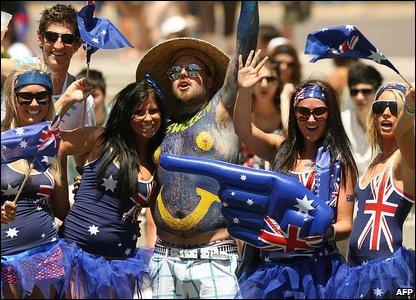 Fans at Australian Open