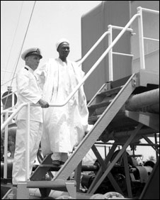 Tafawa Balewa and an oil ship captain