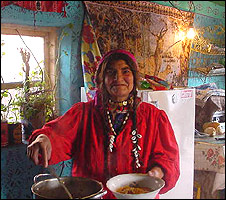 Wife of bulibasha - the local Roma leader
