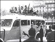 Civilian army in Barcelona in the Spanish Civil War