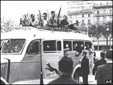 Civilian army in Barcelona in the Spanish Civil War